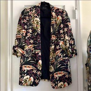 New without tag Zara Jungle Print Blazer - Medium